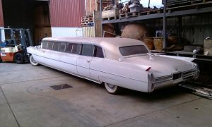 Another amazing car stored at our facility was this 1960's Cadillac stretched limousine