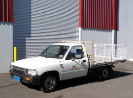 Our good old reliable Hilux Ute ready for any small delivery in or out of AGB Storage
