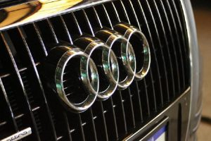The 4 rings of the Audi are a statement from afar