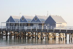 Busselton is a couple of hours south of Perth, and has many tourist attractions, including the Jetty, which is the second longest wooden jetty in the world