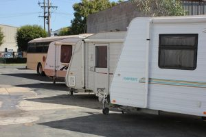 Ample hardstand to park your caravan in AGB's carpark