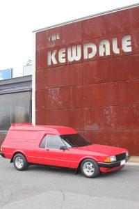 A genuine Falcon Sundowner panelvan outside the Kewdale Tavern near AGB Storage
