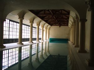 Nice to have an indoor pool like this when the weather isn't favourable to be outside!