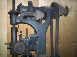 A large industrial drill press is one of the many different things that can be stored until required
