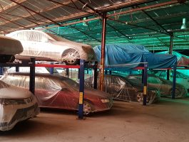 Cars can be stored for short or long terms in the warehouses