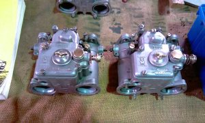 A set of 40DCOE Weber carburettors, personally restored and ready for eventual fitting to my 1972 Twin Cam Ford Escort
